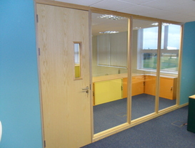 Timber Framed partitioning in Alnwick Northumberland