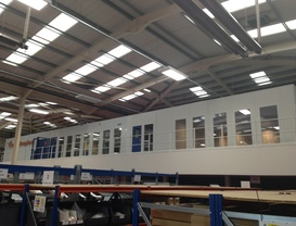 Warehouse & Commercial Partitioning in Lemington Spa, Warwickshire