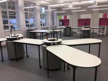 Lab work stations fit out at school